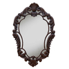 Hickory Manor House Curved 22-in x 33.5-in Walnut Diamond Framed French Wall Mirror
