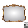 Hickory Manor House Buffet 44-in x 34-in Gilt Silver Rectangle Framed Wall Mirror
