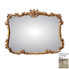 Hickory Manor House Buffet 44-in x 34-in Vintage Blanc Rectangle Framed Wall Mirror