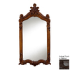 Hickory Manor House Royal 28-in x 52-in Walnut Rectangle Framed Wall Mirror