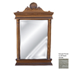 Hickory Manor House Cicero 18-in x 30-in Antique White Polished Rectangle Framed Wall Mirror