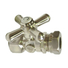 Elements of Design Satin Nickel Quarter Turn Straight Valve