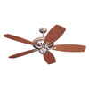 Monte Carlo Fan Company Maxima 14-in Brushed Pewter Downrod Mount Indoor Ceiling Fan (-Blade)