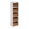 Boston Loft Furnishings Talor White 20-in W x 72.25-in H x 16.5-in D 5-Shelf Bookcase