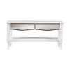 Boston Loft Furnishings Marisol White Fir Rectangular Coffee Table