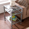 Boston Loft Furnishings Luna Distressed Silver (Metal) Rectangular End Table