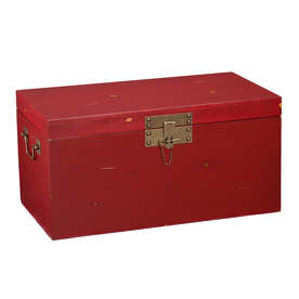 Shop Boston Loft Furnishings Richland Red Trunk Composite Rectangular Coffee Table At