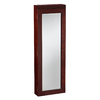 Boston Loft Furnishings Starling Cherry Wall-Mount Lighted Jewelry Armoire