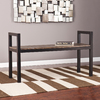 Holly & Martin Abachi Burnt Oak/Black Indoor Accent Bench