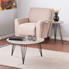 Holly & Martin Bannock Matte Gray (Metal/Wood) Accent Table Set