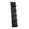Holly & Martin Zenhe Black 14-in W x 60.25-in H x 6.5-in D 5-Shelf Bookcase