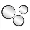 Holly & Martin Daws Black Polished Round Framed Wall Mirror