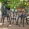 Best Selling Home Decor Nassau 3-Piece Dark Aluminum Bistro Patio Dining Set