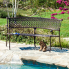 Best Selling Home Decor Tahoe 16-in W x 47-in L Shiny Copper Aluminum Patio Bench