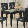 Coaster Fine Furniture Anisa Black/Black Marble Rectangular Dining Table