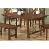 Coaster Fine Furniture Lawson Rustic Oak Rectangular Dining Table