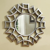 Coaster Fine Furniture 40-in x 40-in Chrome Round Framed Wall Mirror