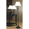 Coaster Fine Furniture 3-Piece Black Lamp Set with Fabric Shades