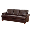Coaster Fine Furniture Colton Brown Bonded Leather Stationary Sofa