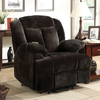 Coaster Fine Furniture Chocolate Velvet Recliner Chair