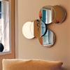 Nexxt Designs Solei 27-in x 22-in Round Frameless Wall Mirror
