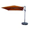 Blue Wave Santorini II Terra Cotta Offset Patio Umbrella (Common: 10-ft W x 10-ft L; Actual: 10-ft W x 10-ft L)