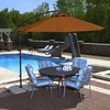 Blue Wave Santiago Terra Cotta Offset Patio Umbrella