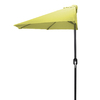 Jordan Manufacturing Canary Yellow Market Umbrella with Crank (Common: 3-ft 10-in x 7-ft 2-in; Actual: 3-ft 10-in x 7-ft 2-in)