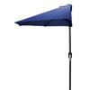 Jordan Manufacturing Navy Market Umbrella with Crank (Common: 3-ft 10-in x 7-ft 2-in; Actual: 3-ft 10-in x 7-ft 2-in)