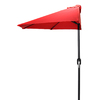 Jordan Manufacturing Red Market Umbrella with Crank (Common: 3-ft 10-in x 7-ft 2-in; Actual: 3-ft 10-in x 7-ft 2-in)