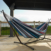 Vivere Denim Fabric Hammock Stand Included