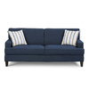 Coaster Fine Furniture Finley Blue Linen Stationary Sofa
