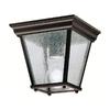 Kichler Lighting New Street 7.25-in W Black Outdoor Flush-Mount Light