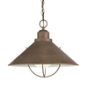 Kichler Lighting Seaside 13.25-in Olde Brick Outdoor Pendant Light
