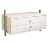 space-pro 35.5-in x 13.75-in 2-Drawer White Composite Wood Drawer