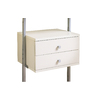 space-pro 21.75-in x 13.75-in 2-Drawer White Composite Wood Drawer