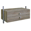 space-pro 35.5-in x 13.75-in 2-Drawer Driftwood Composite Wood Drawer