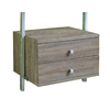 space-pro 21.75-in x 13.75-in 2-Drawer Driftwood Composite Wood Drawer