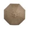 allen + roth 8-ft 10-in Brown Round Market Umbrella