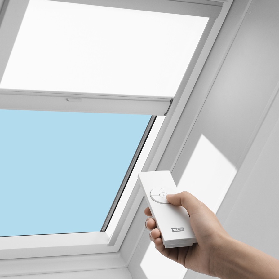 Shop velux vcm 2222 solar roller blind at for Velux solar powered blinds