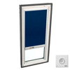 VELUX 22-5/16-in x 47-1/4-in x 3-3/8-in Fixed Tempered Skylight with Solar-Powered Light-Blocking Shade