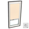 VELUX 31-5/8-in x 47-1/4-in x 3-3/8-in Fixed Tempered Skylight with Solar-Powered Light-Blocking Shade