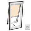 VELUX 22-5/16-in x 47-1/4-in x 3-3/8-in Venting Tempered Skylight with Solar-Powered Light-Filtering Shade