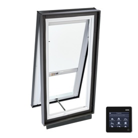 VELUX 27-1/8-in x 27-1/8-in x 5-5/8-in Solar-Powered Venting Laminated Skylight with Solar-Powered Light-Blocking Shade VCS 2222 204DS00
