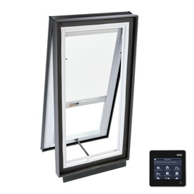VELUX 27-1/8-in x 27-1/8-in x 5-5/8-in Solar-Powered Venting Laminated Skylight with Solar-Powered Light-Filtering Shade VCS 2222 204RS00