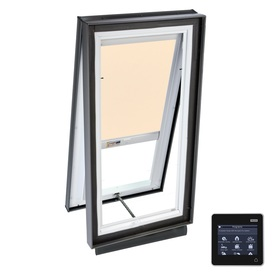 VELUX 27-1/8-in x 27-1/8-in x 5-5/8-in Solar-Powered Venting Laminated Skylight with Solar-Powered Light-Filtering Shade VCS 2222 204RS01