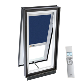 VELUX 27-1/8-in x 27-1/8-in x 5-5/8-in Solar-Powered Venting Laminated Skylight with Solar-Powered Light-Filtering Shade VCS 2222 204RS02