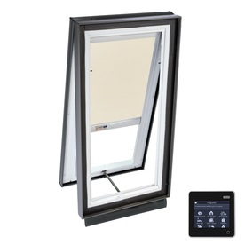 VELUX 35-1/8-in x 35-1/8-in x 5-5/8-in Solar-Powered Venting Laminated Skylight with Solar-Powered Light-Blocking Shade VCS 3030 204DS01