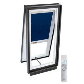 VELUX 51-1/8-in x 51-1/8-in x 5-5/8-in Solar-Powered Venting Laminated Skylight with Solar-Powered Light-Blocking Shade VCS 4646 204DS02