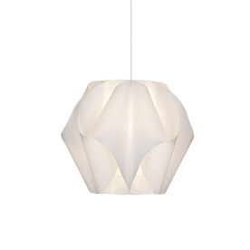 Style Selections Gambrell 16.5-in W White Plug-In Standard Pendant Light with White Shade